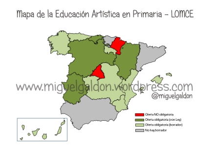 Mapa de la Educación Artística en Primaria