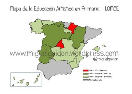 mapa educacion artistica musical españa lomce ley educativa
